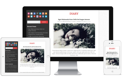 Diary-WordPress-theme