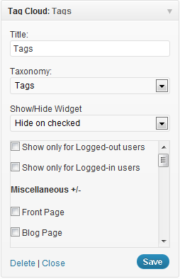 Display-widgets-example