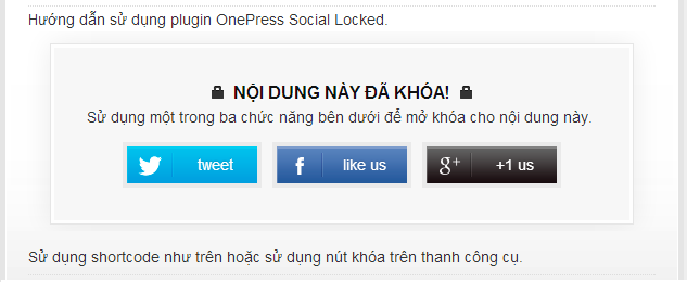 use preview onepress social locker