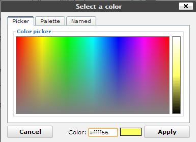 Ultimate TinyMCE option font color