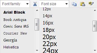 Ultimate TinyMCE option font size