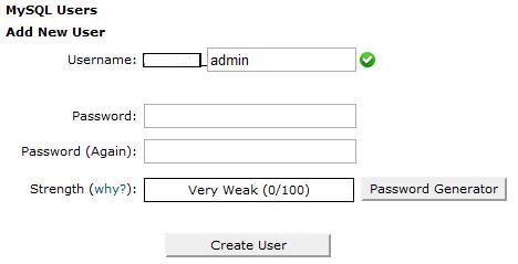 mysql users