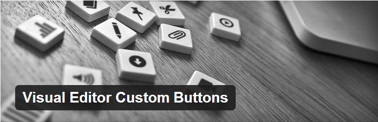 visual editor custom buttons logo