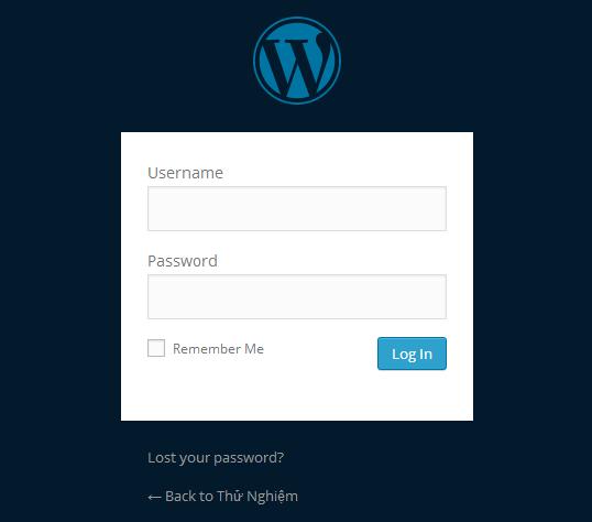 doi mau nen trang login wordpress