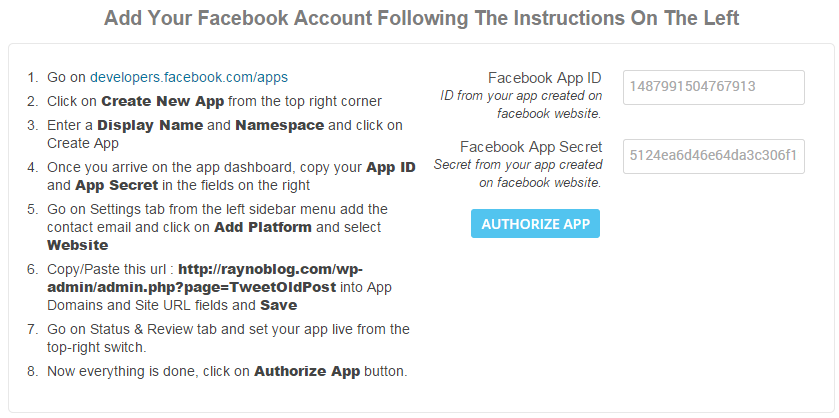 tao app facebook