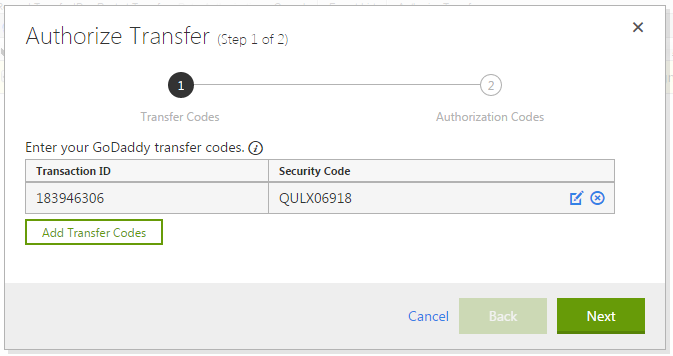 transfer ten mien ve godaddy 6