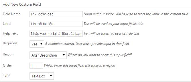tao custom field