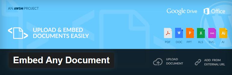 nhúng file tài liệu vào WordPress
