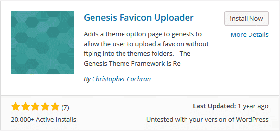 đổi favicon cho genesis