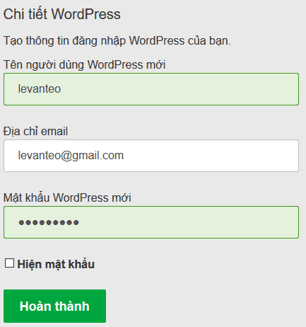 quan ly wordpress hosting godaddy 6 cài đặt wordpress
