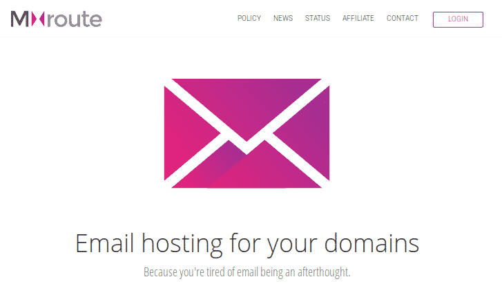 mxroute - email hosting giá rẻ