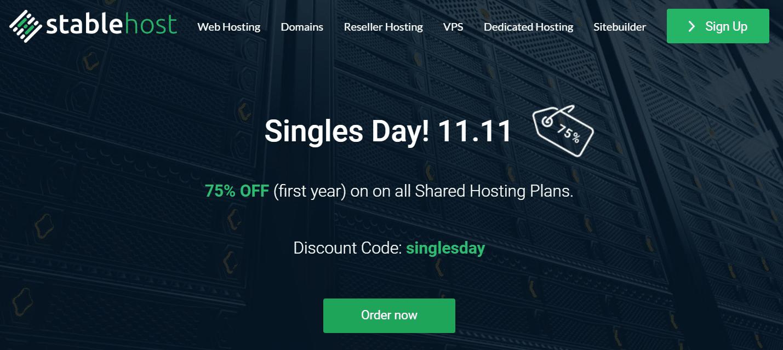 StableHost giảm giá 75% ngày độc thân